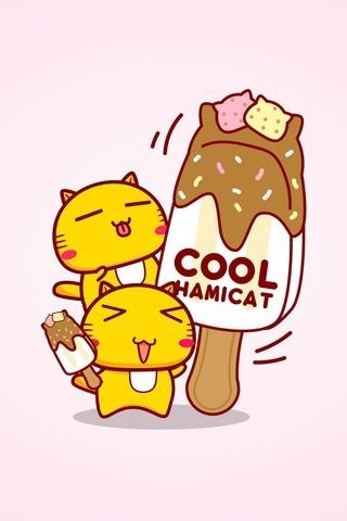 哈咪猫爱吃雪糕