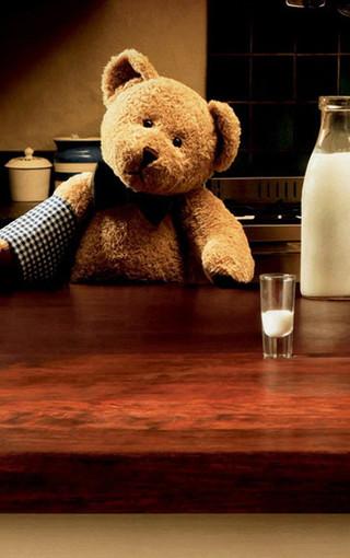可愛泰迪熊手機壁紙