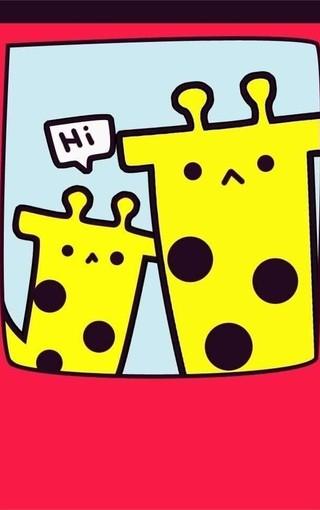 可爱壁纸 可爱卡通壁纸 可爱长颈鹿手机壁纸   (8/14) 183