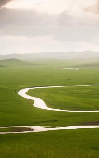 壁纸 草原 风景 山水 桌面 320_510 竖版 竖屏 手机