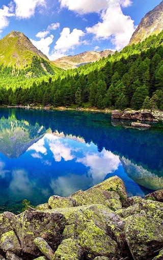 风景壁纸 山水风景壁纸 清爽自然景色高清手机壁纸图片   扫描二维码