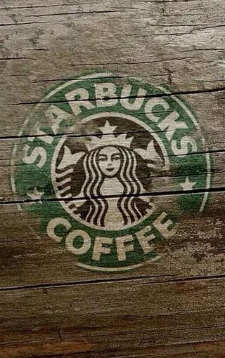 创意壁纸 星巴克咖啡logo壁纸