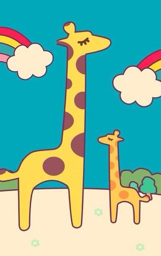 可爱长颈鹿手机壁纸