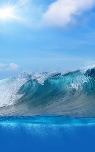 唯美蓝色大海手机壁纸