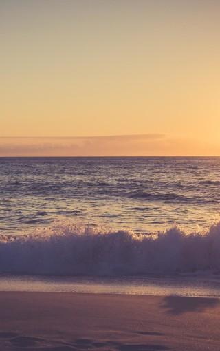 风景壁纸 自然风景壁纸 简约唯美海滩手机壁纸
