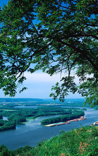 风景壁纸 自然风景壁纸 溪水河流高清手机壁纸