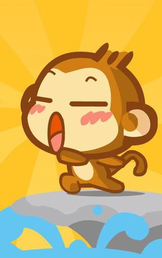嘻哈猴卡通手机壁纸