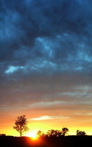 绝美朝霞和晚霞风景手机壁纸