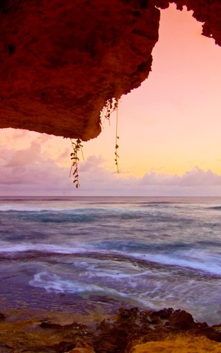 秋天的海边自然风景壁纸