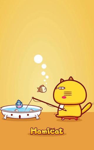 动漫壁纸 哈咪猫hamicat可爱卡通iphone4s手机壁纸