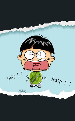 小明可爱卡通手机壁纸
