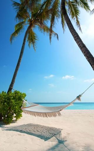 风景壁纸 高清风景壁纸 马尔代夫蓝色海手机壁纸