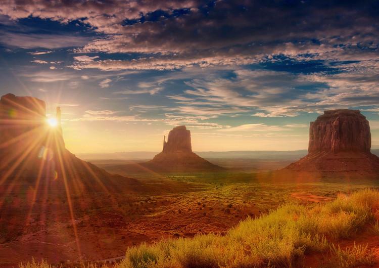 高动态光照渲染风景壁纸