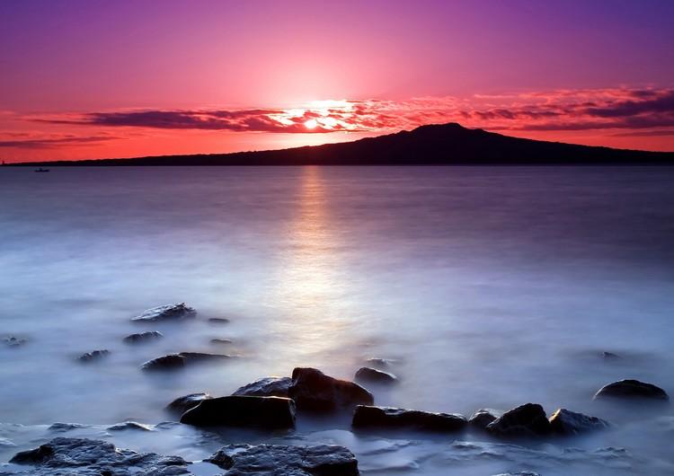 新西兰海边日落手机壁纸