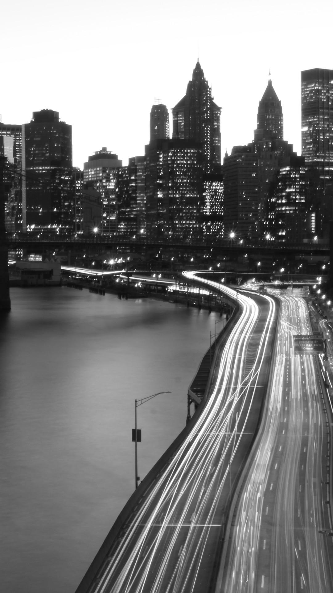 背景黑色简约城市图片壁纸