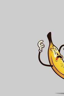 香蕉桌面背景简约图片壁纸