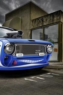 超帅气宝蓝色跑车锁屏壁纸