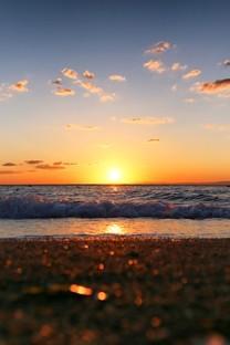 水边落日夕阳风景图片壁纸2