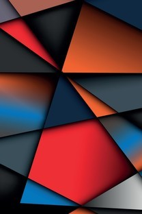 彩色放块手机壁纸