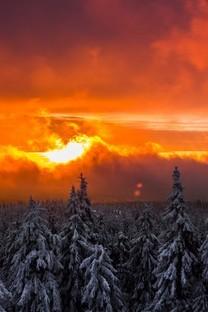 唯美意境夕阳美景图片桌面壁纸
