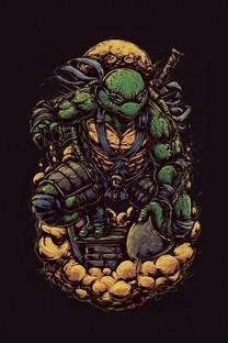 毒液、忍者神龟黑色背景壁纸