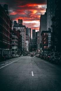 城市街道风景摄影手机图片壁纸