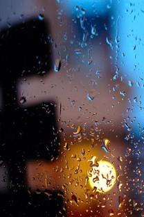 玻璃上的雨点手机壁纸