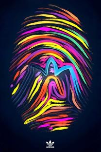 iphone 5S阿迪达斯创意LOGO手机壁纸