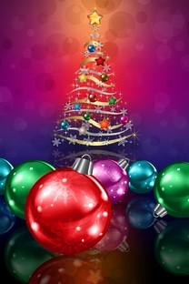 圣诞彩球高清手机壁纸