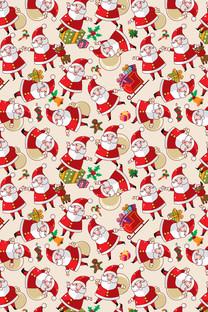 圣诞节小碎花可爱壁纸