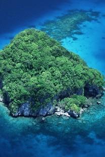 深蓝自然景色手机壁纸