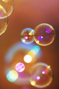 五彩斑斓的泡泡手机壁纸