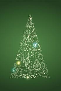 圣诞树背景图片壁纸