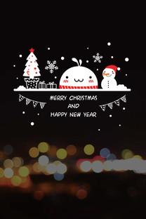 油爆叽丁圣诞风格手机壁纸