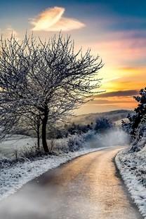 唯美冬日雪景野外意境图片壁纸