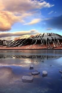 冰川融化唯美雪景桌面图片壁纸