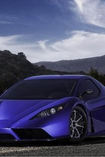 蓝色超帅气跑车高清壁纸