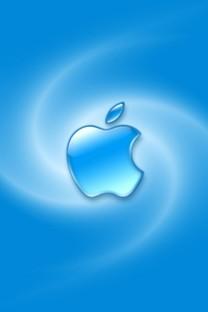 蓝色苹果LOGO壁纸下载