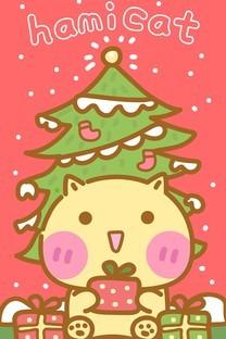 哈咪猫圣诞节图片壁纸