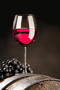 美味的葡萄酒与葡萄高清桌面壁纸