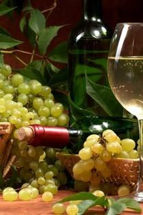 美味的葡萄酒与葡萄高清桌面壁纸2