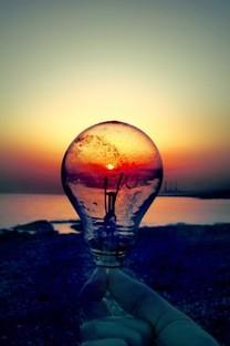 傍晚的夕阳朦胧风景高清图片壁纸2