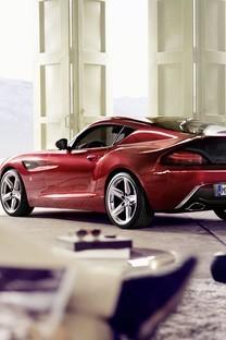 红色宝马豪华汽车图片壁纸