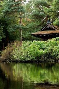 唯美花园别墅背景图片壁纸
