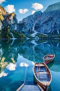 山水船风景图片手机壁纸