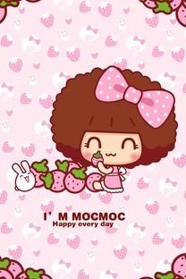 粉红摩丝摩丝手机壁纸
