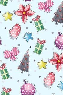 简约可爱卡通圣诞背景壁纸