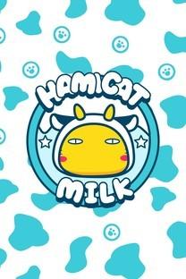 奶牛哈咪猫造型可爱高清图片壁纸