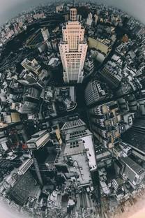 空中摄建筑图片壁纸
