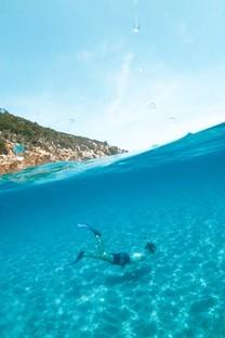 海里的潜水员摄影高清图片壁纸